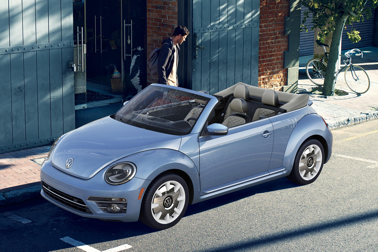 2019 Volkswagen Beetle Convertible Silk Blue Metallic Exterior Side