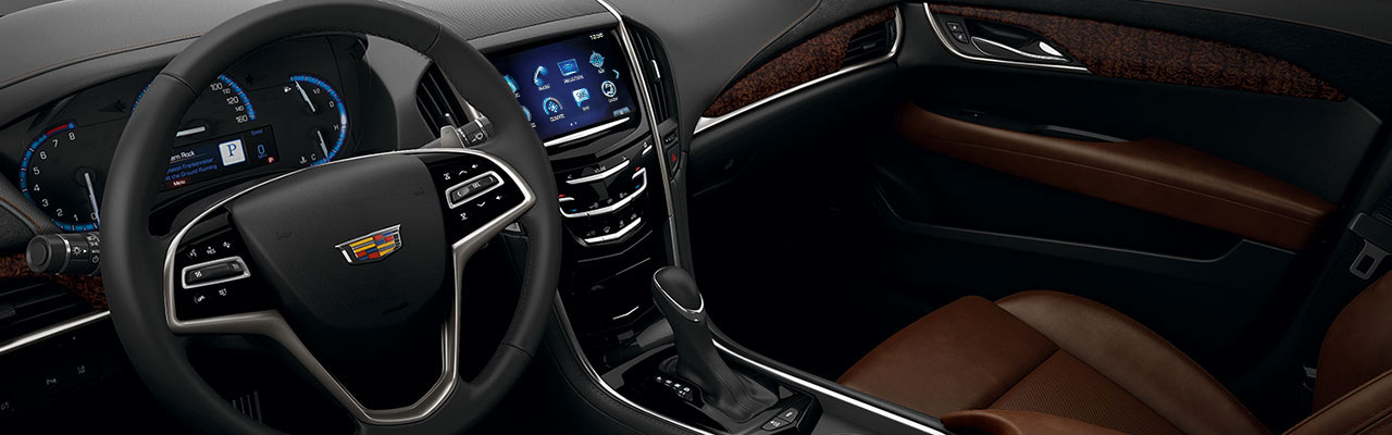2016 Cadillac ATS Sedan Interior Brown Leather ...