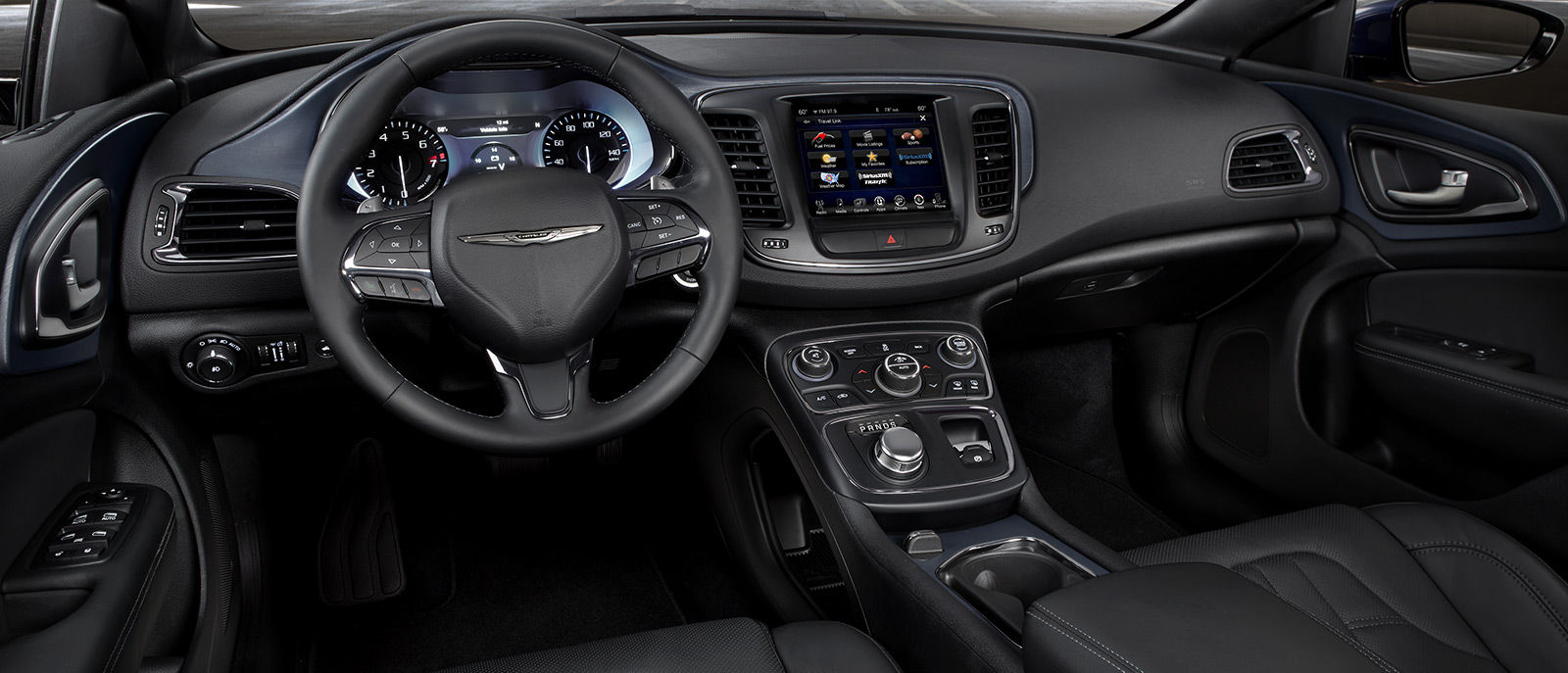 2016 Chrysler 200 Black Leather Interior