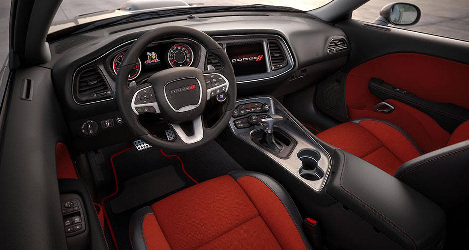 2016 Dodge Challenger Red Interior