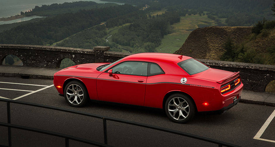 2016 Dodge Challenger Red Exterior Side