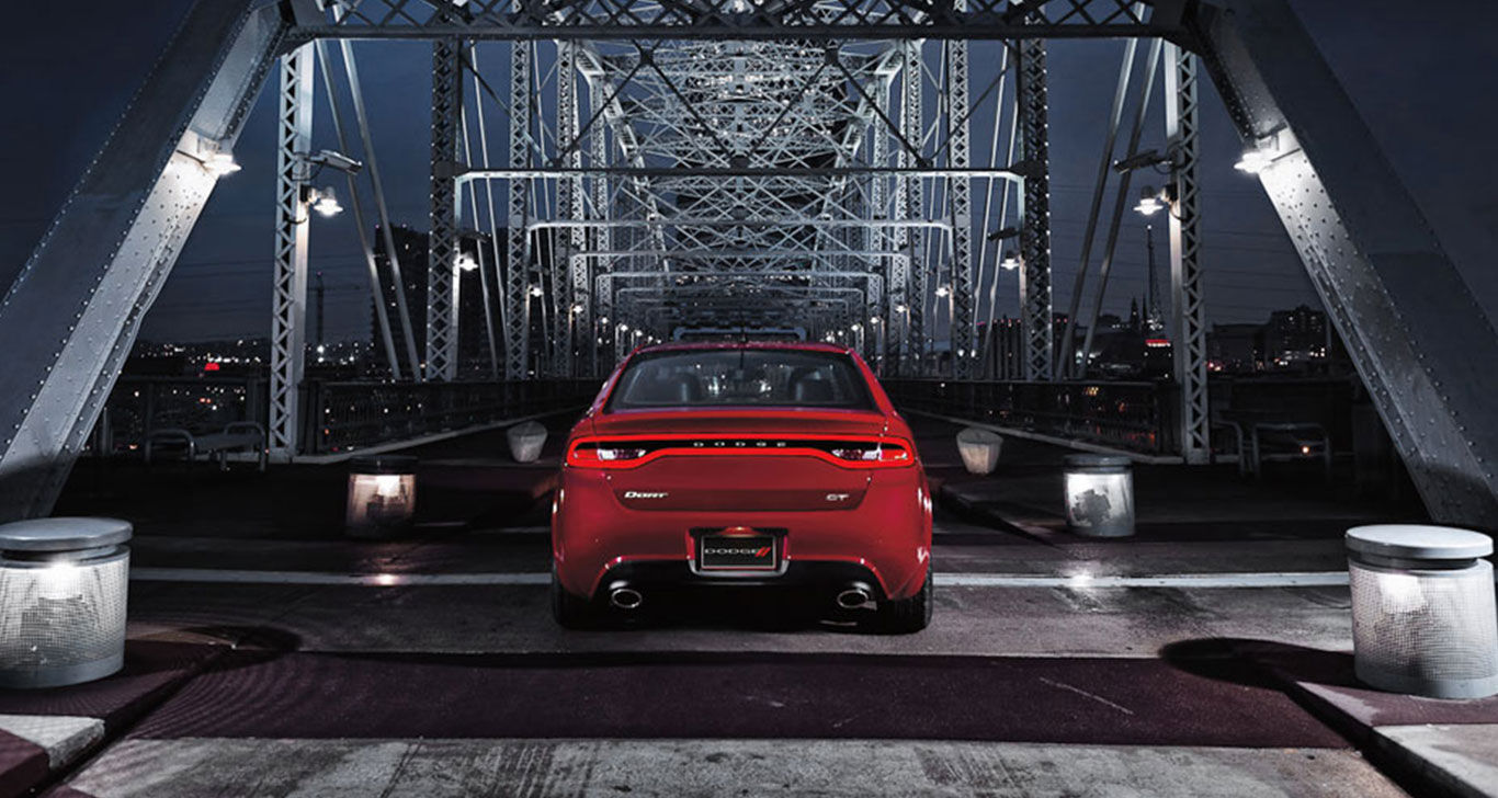 Exterior 2016 Dodge Dart Red back view