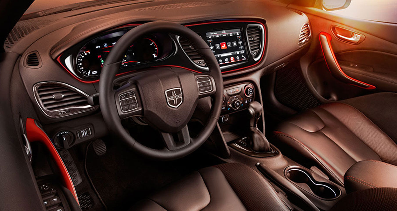 Orange 2016 Dodge Dart Interior