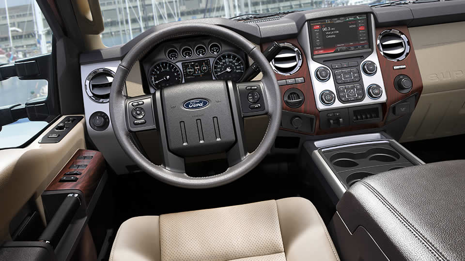 2016 Ford F 250SD Interior Steering Wheel Detail
