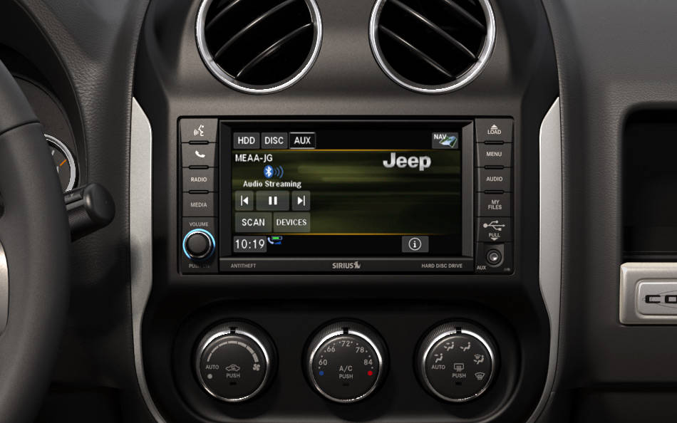 2016 Jeep Compass Interior Infotainment Detail