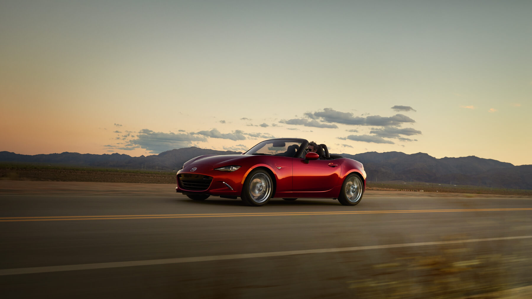 2016 Mazda MX-5 Miata Red Exterior On The Road