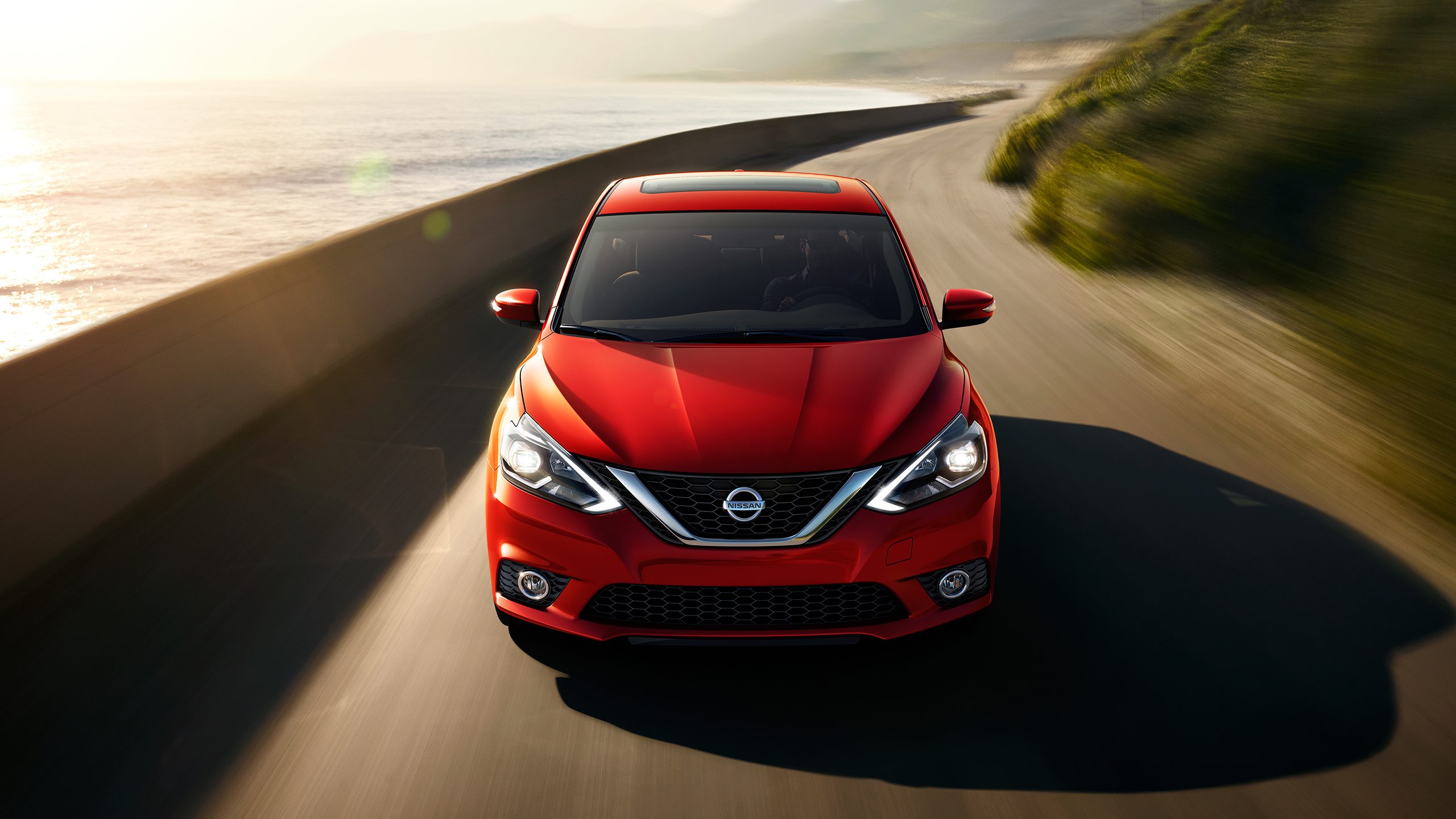 2016 Nissan Sentra Red Exterior Face