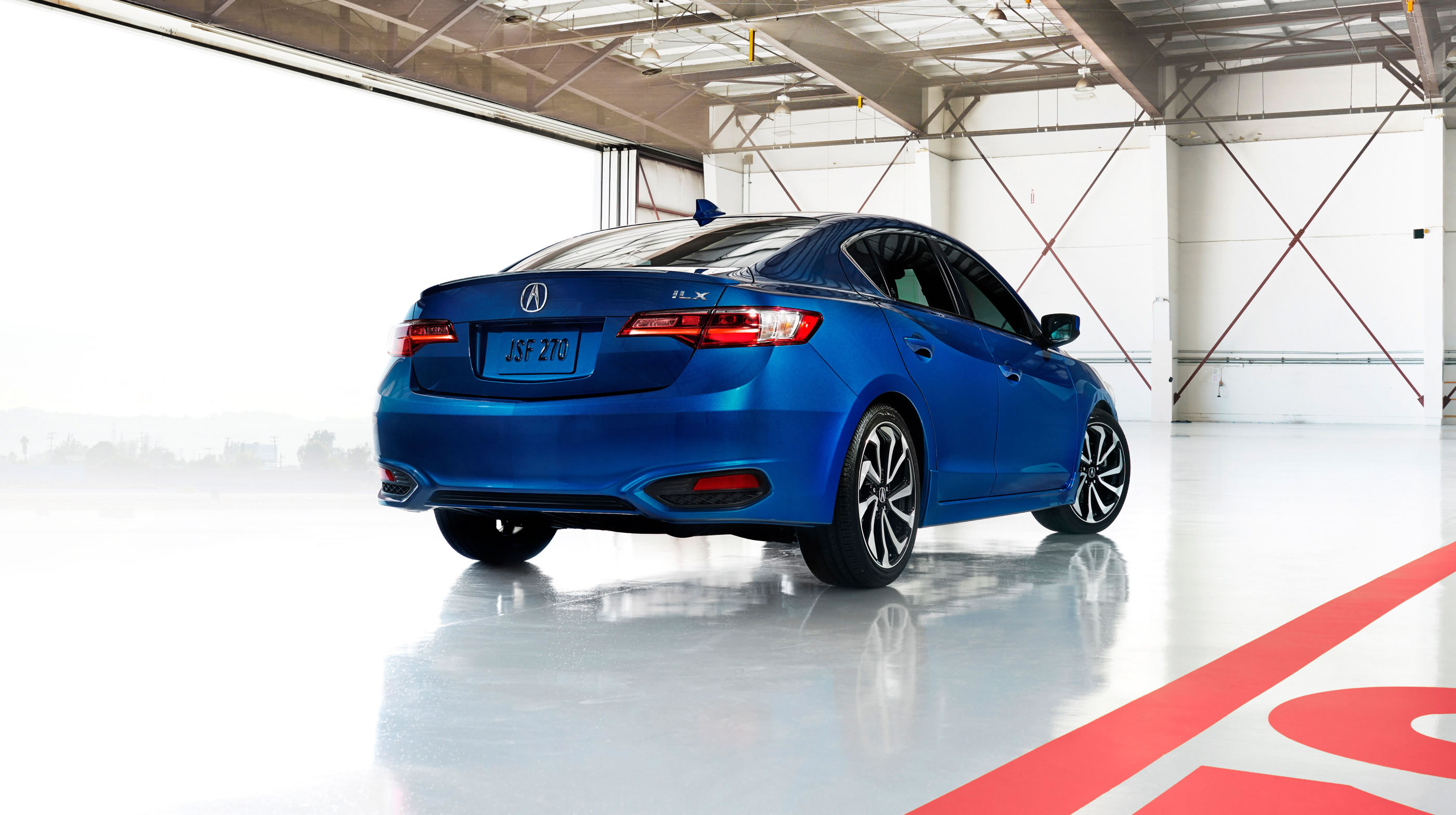 2017 Acura ILX with Premium Package Blue Exterior Rear
