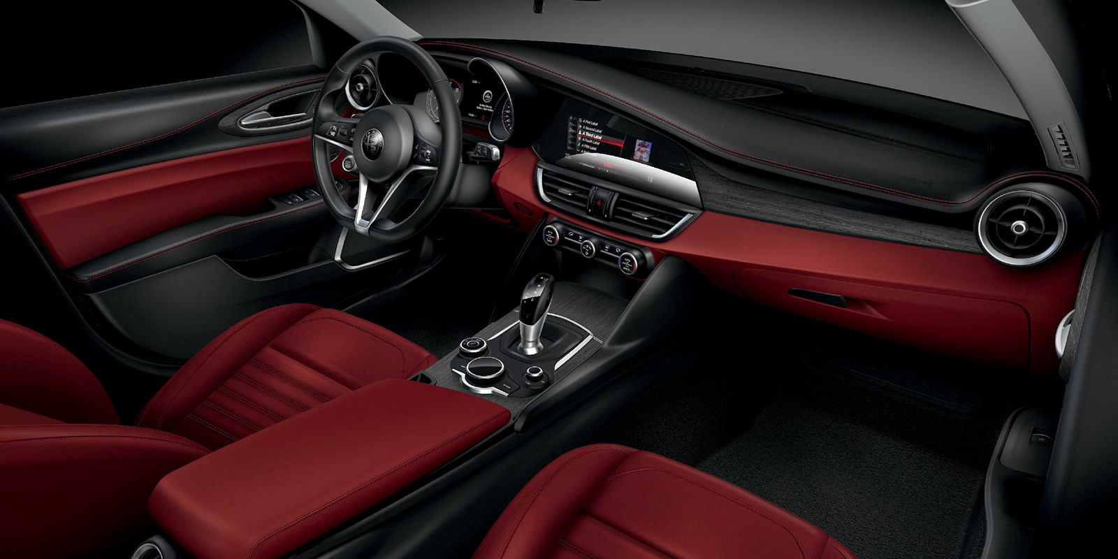 2017 Alfa Romeo Giulia Ti Sedan Two Town Interior Seating