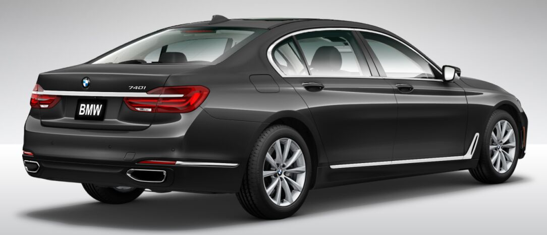 2017 BMW 740i Black Rear Exterior