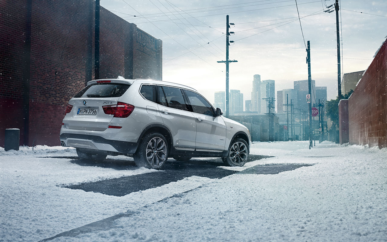 2017 BMW X3 xDrive35i Exterior Rear View White