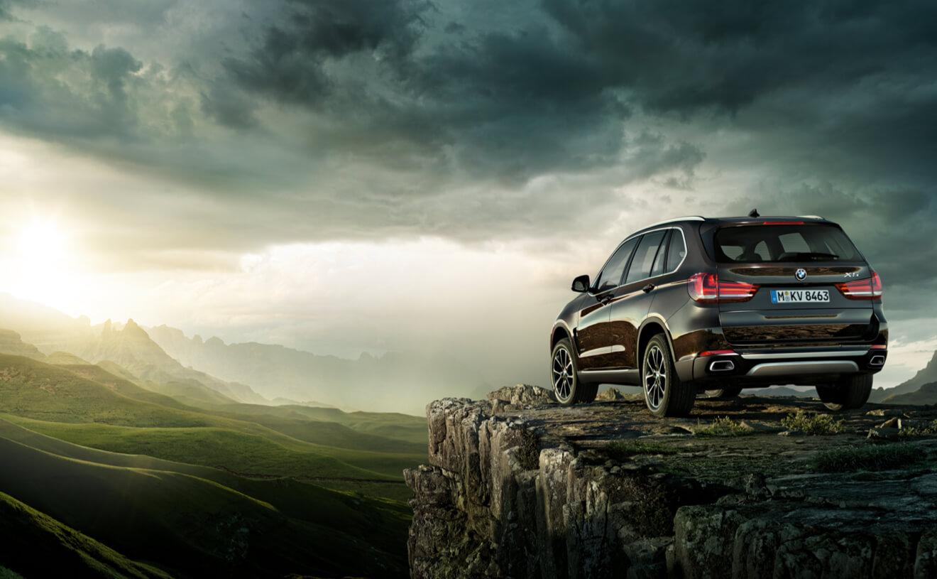 2017 BMW X5 xDrive50i Rear Brown Exterior