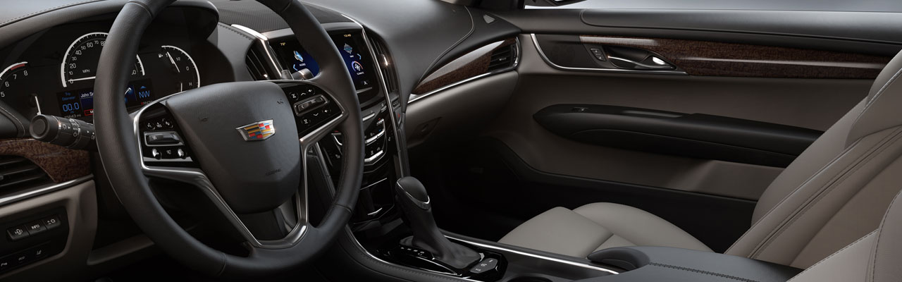 Great 2017 Cadillac ATS Sedan Interior Dashboard Side View ...