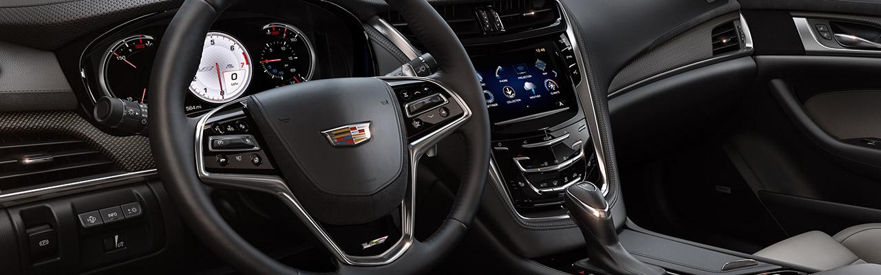 2017 Cadillac Cts V Sedan Wheel And Dash Interior Jpg