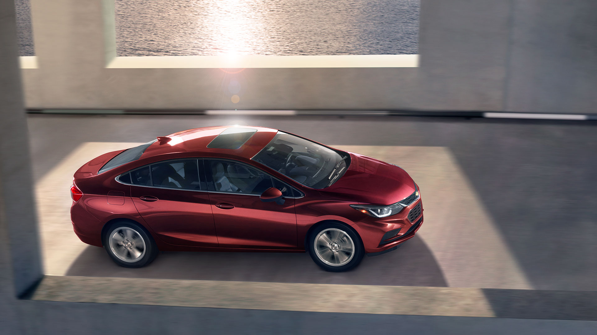 2017 Chevrolet Cruze Side Exterior Red