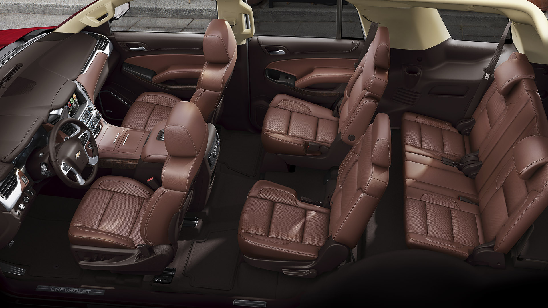 2017 Chevrolet Tahoe Brown Seating Interior