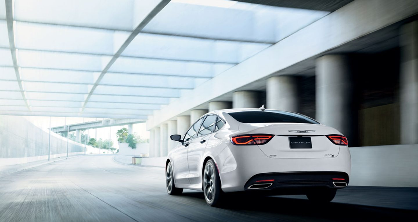 2017 Chrysler 200 White Rear Exterior