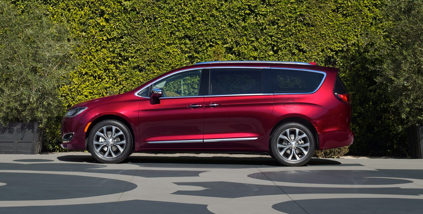 2017 Chrysler Pacifica Limited Side Red Exterior