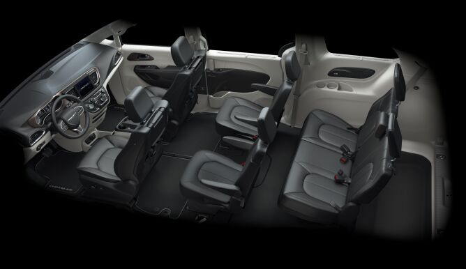 2017 Chrysler Pacifica Touring L Plus Aerial View Interior