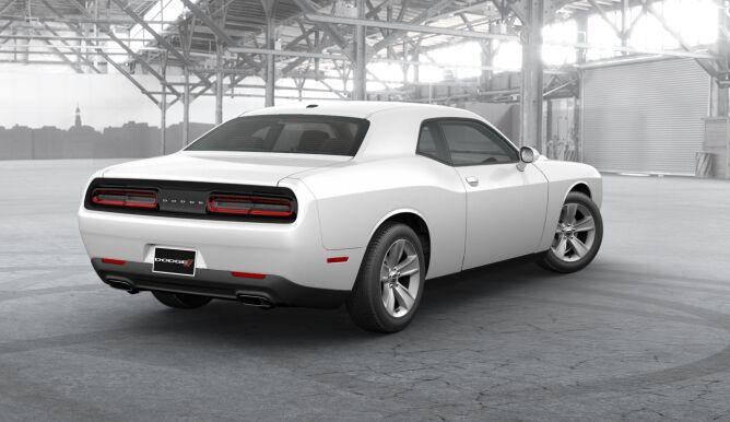 2017 Dodge Challenger Sxt White Rear Exterior