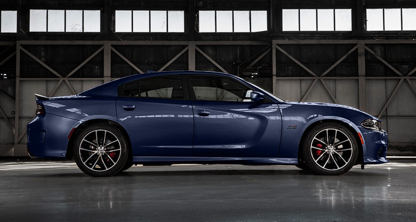 2017 Dodge Charger Blue Exterior Front Top View
