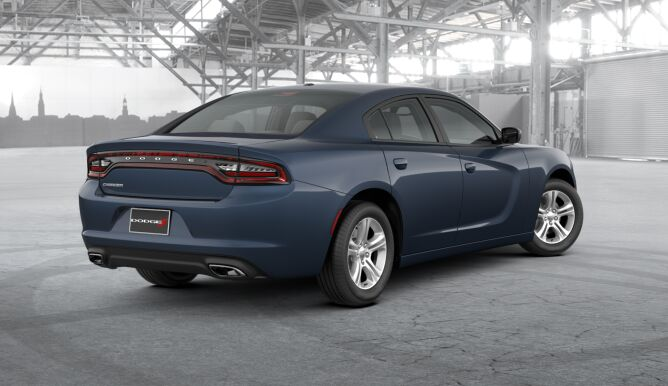 2017 Dodge Charger SE Blue Rear Exterior