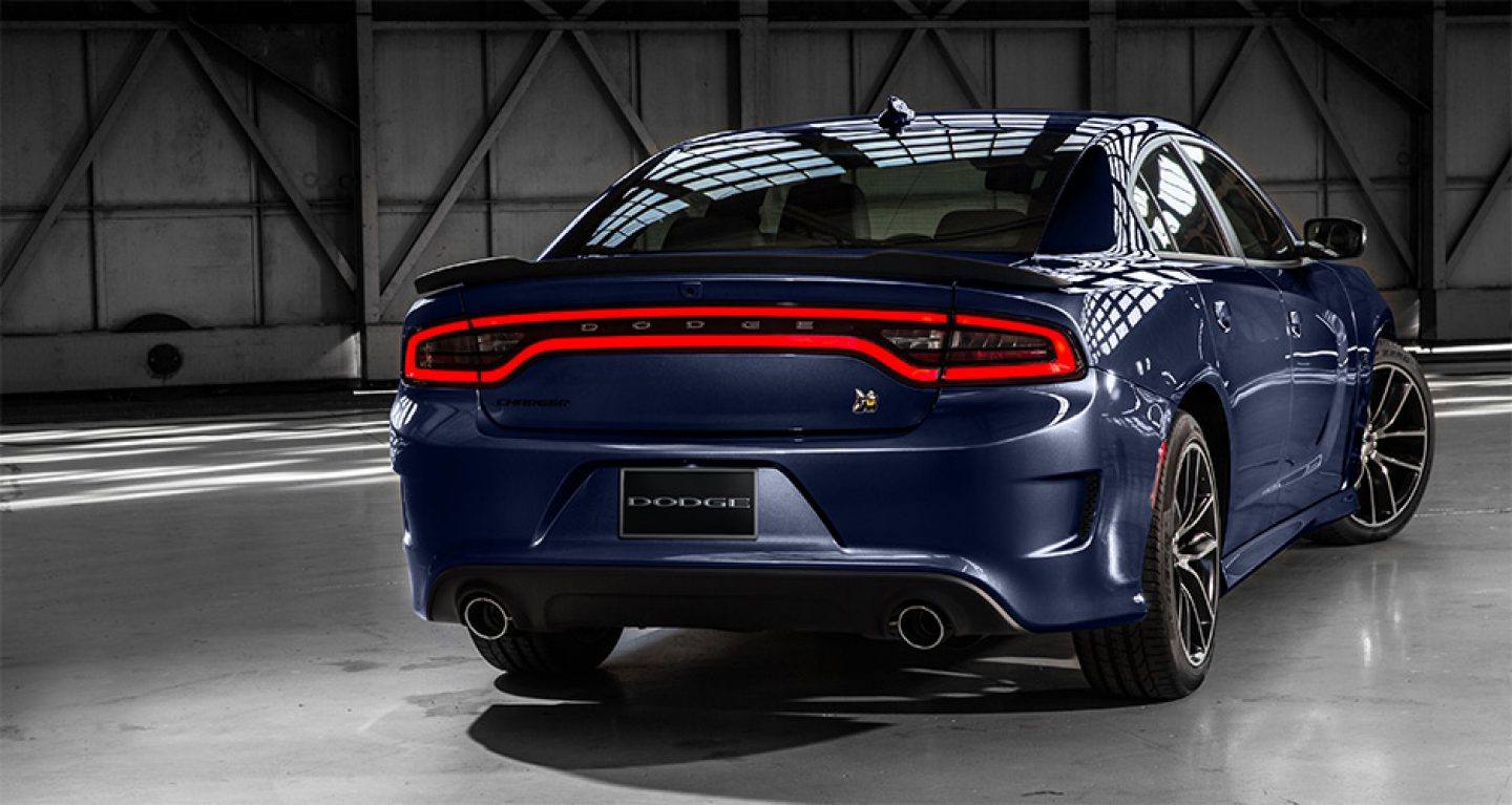2017 Dodge Charger Blue Rear Exterior