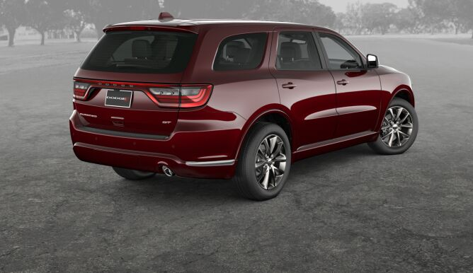 2017 Dodge Durango GT Rear Red Exterior Gray Background