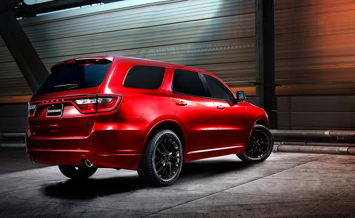 2017 Dodge Durango Rear Exterior Red