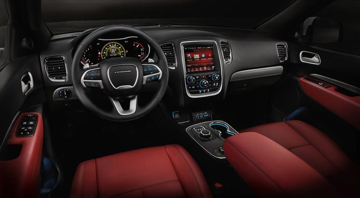 2017 Dodge Durango Red Nappa Leather Seating and Dash Interior