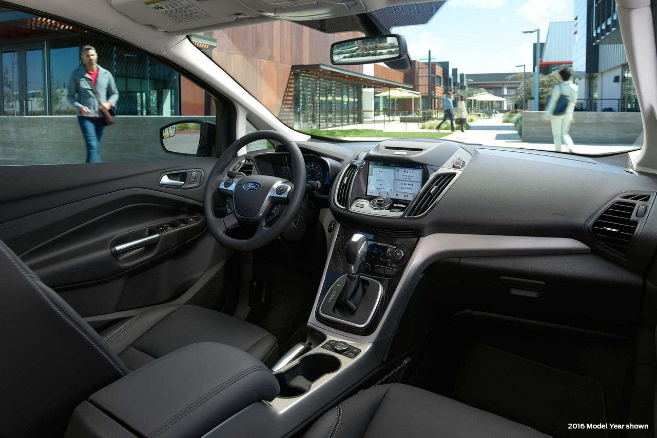 2017 Ford C Max Energi Front Black Dashboard Interior Jpeg