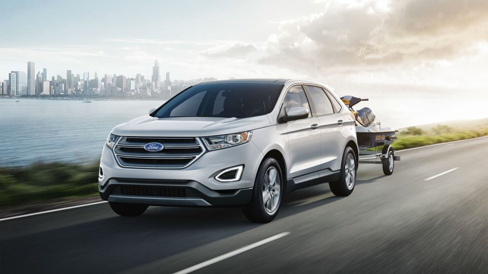 2017 Ford Edge Exterior Front White