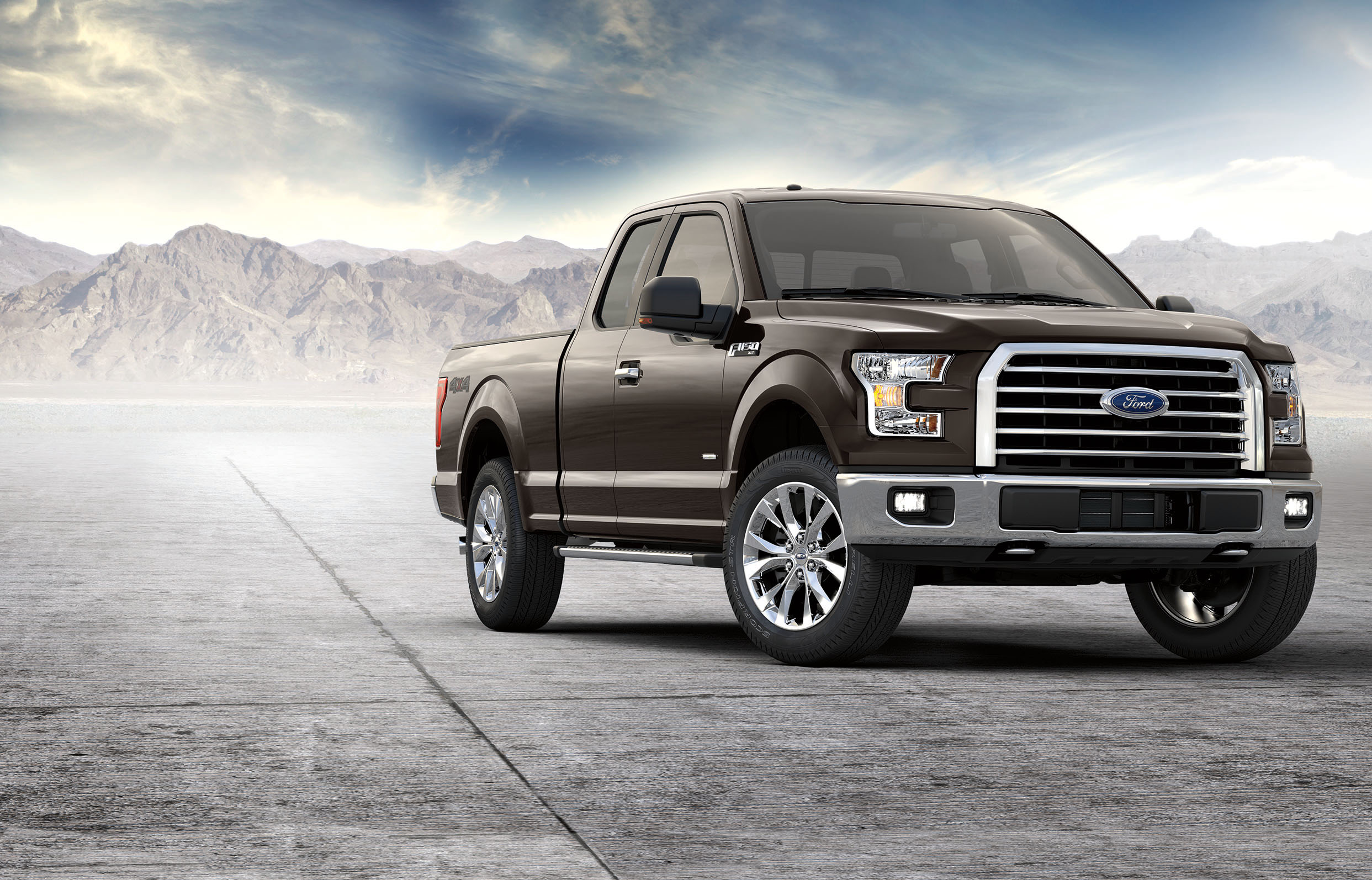 2017 Ford F-150 Front Exterior Black