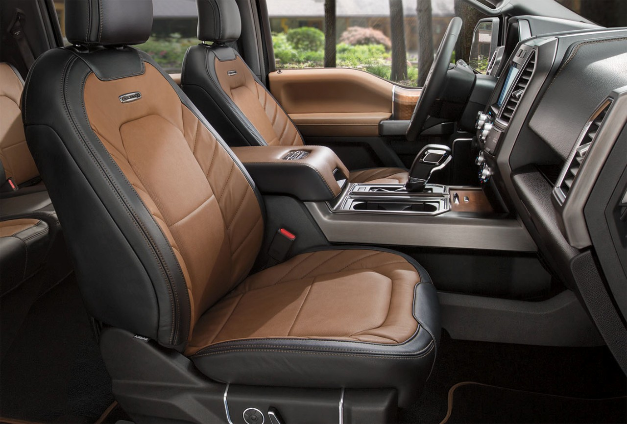 2017 Ford F 150 Interior Leather Seating And Dash