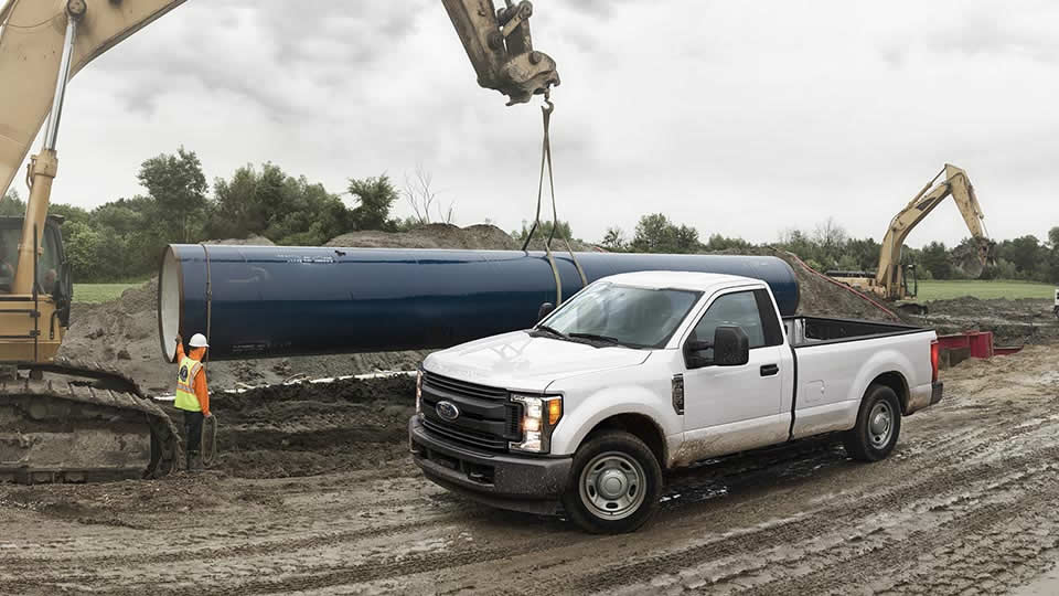 2017 Ford F-250 Exterior White Front