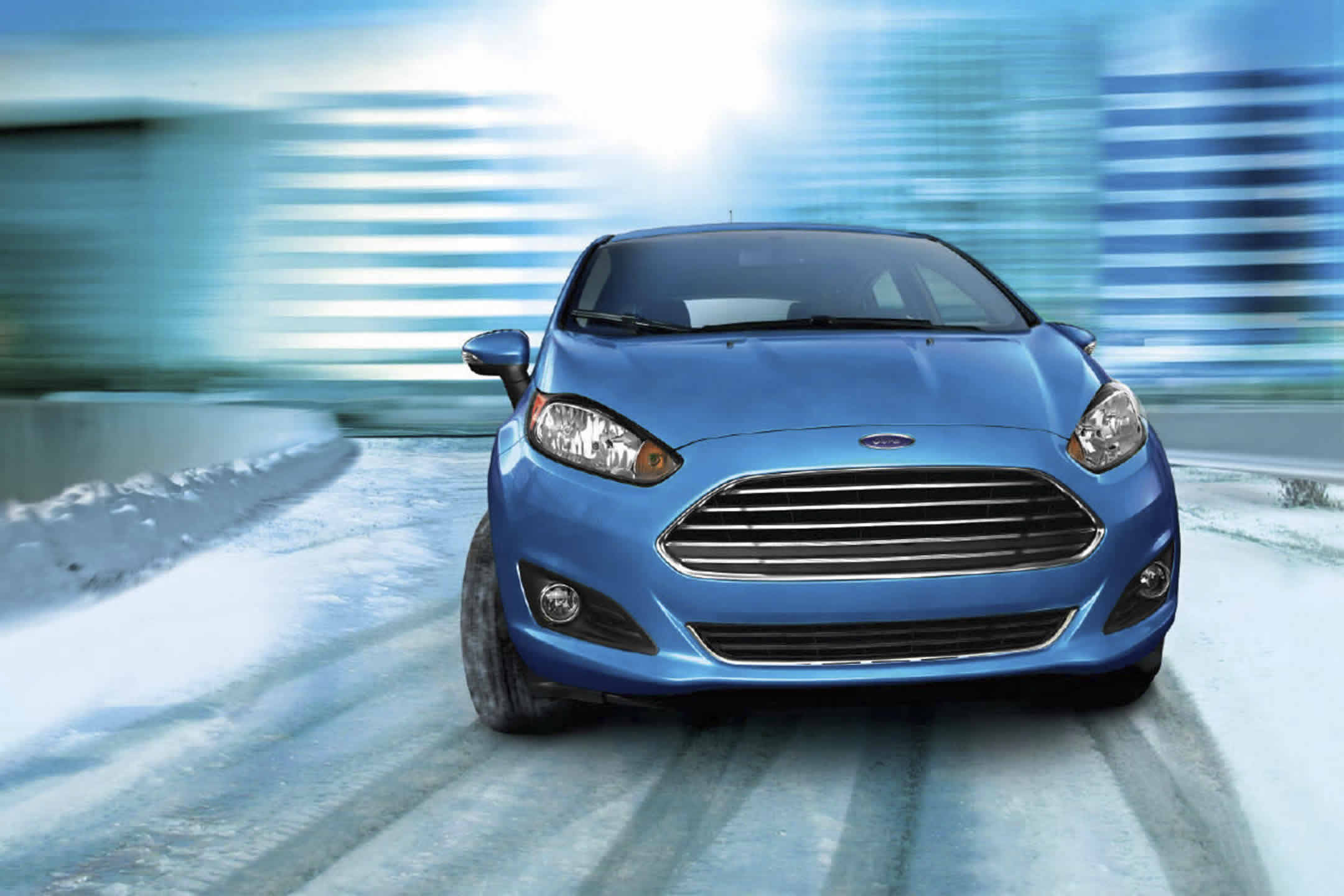 2017 Ford Fiesta Blue Front Exterior