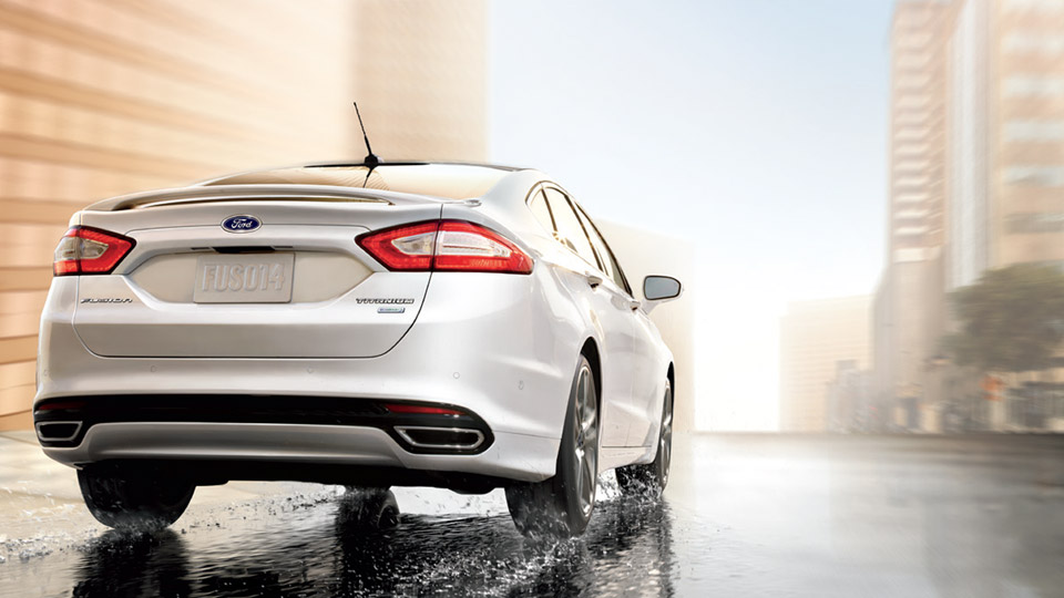 2017 Ford Fusion Exterior White Rear