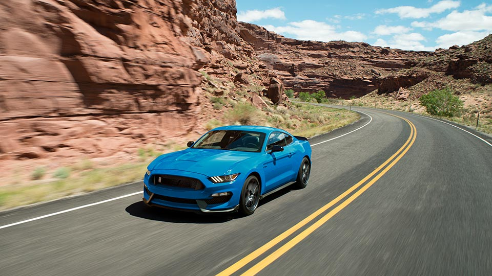 2017 Ford Mustang Front Exterior Blue
