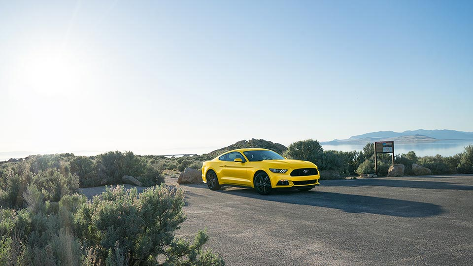 2017 Ford Mustang Front Exterior Yellow