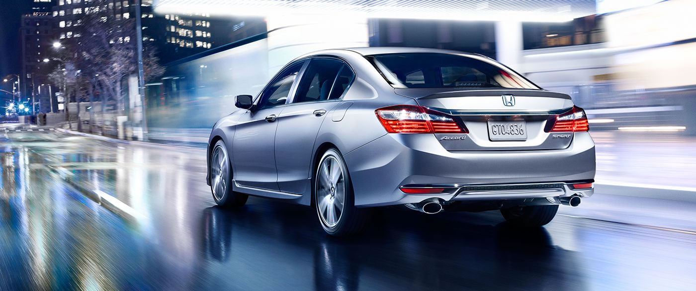2017 Honda Accord Sedan Sport Silver Exterior Rear View