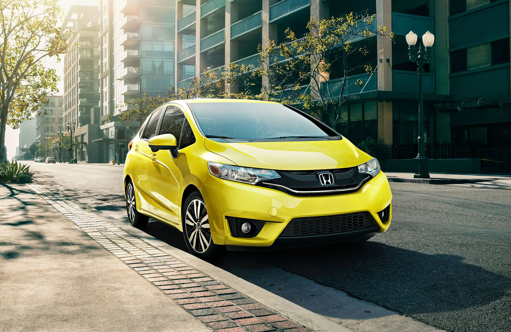 2017 Honda Fit Exterior Front Yellow