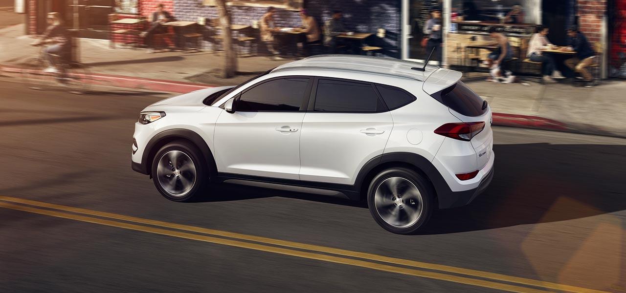 2017 Hyundai Tucson Sport White Side Exterior Jpg