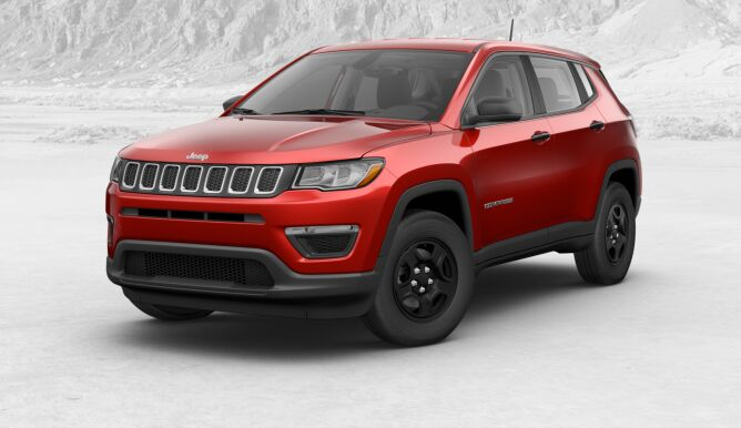 2017 Jeep All-new Compass Sport Front Red Exterior