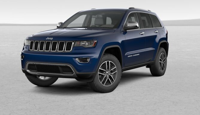 2017 Jeep Grand Cherokee Limited Blue Front Exterior