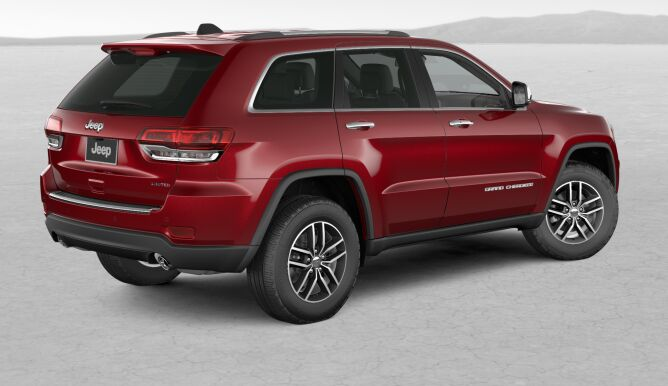 2017 Jeep Grand Cherokee Limited Red Rear Exterior