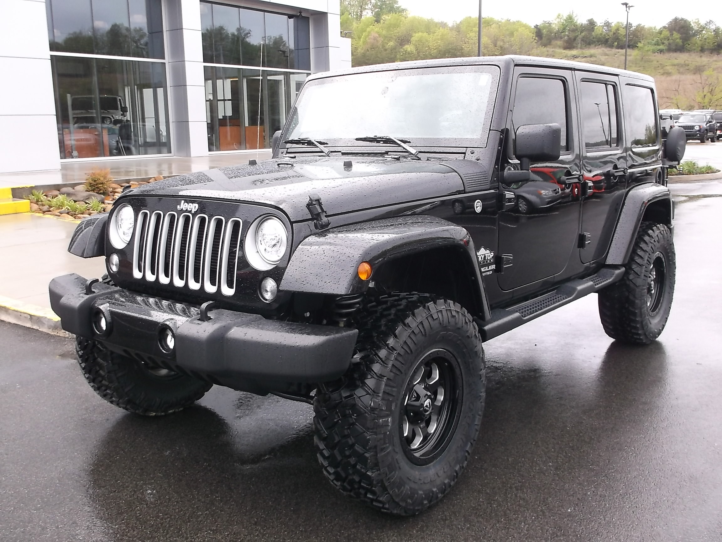 2017 Jeep Wrangler Unlimited Rocky Top Edition Black Exterior Front View