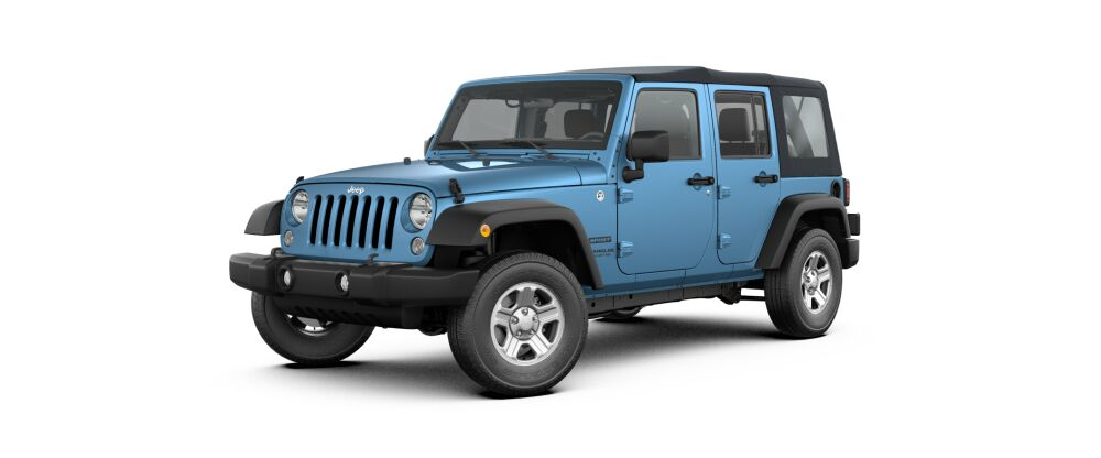 2017 Jeep Wrangler Unlimited Sport 4x4 Front Blue Exterior