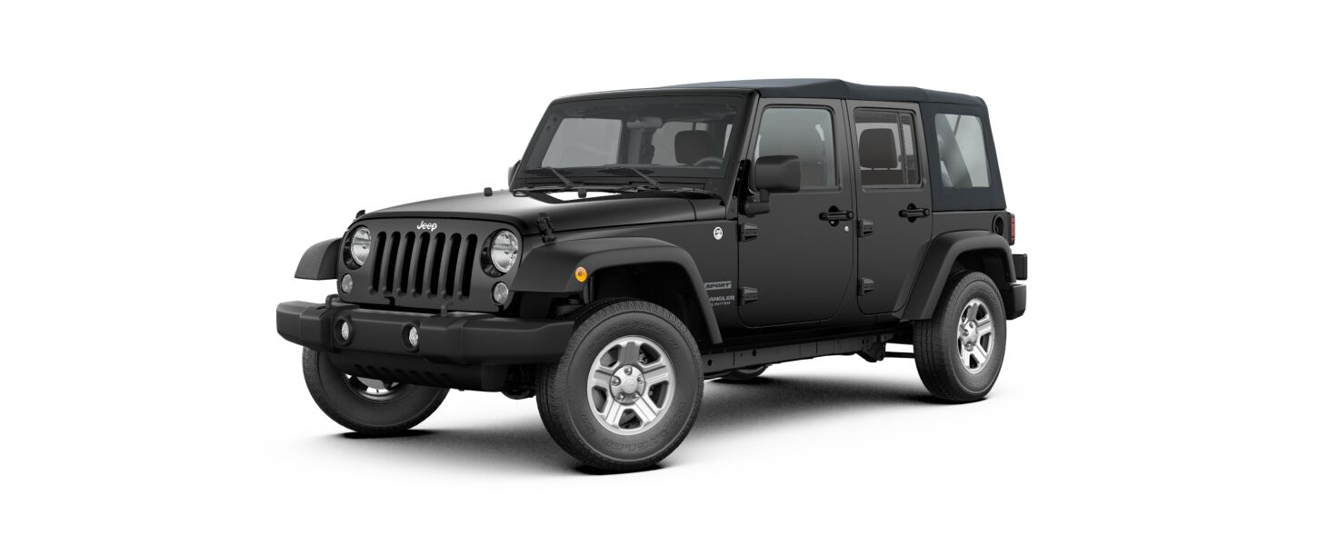2017 Jeep Wrangler Unlimited Sport Black Exterior