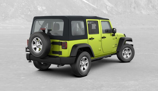 2017 Jeep Wrangler Unlimited Sport Green Rear Exterior