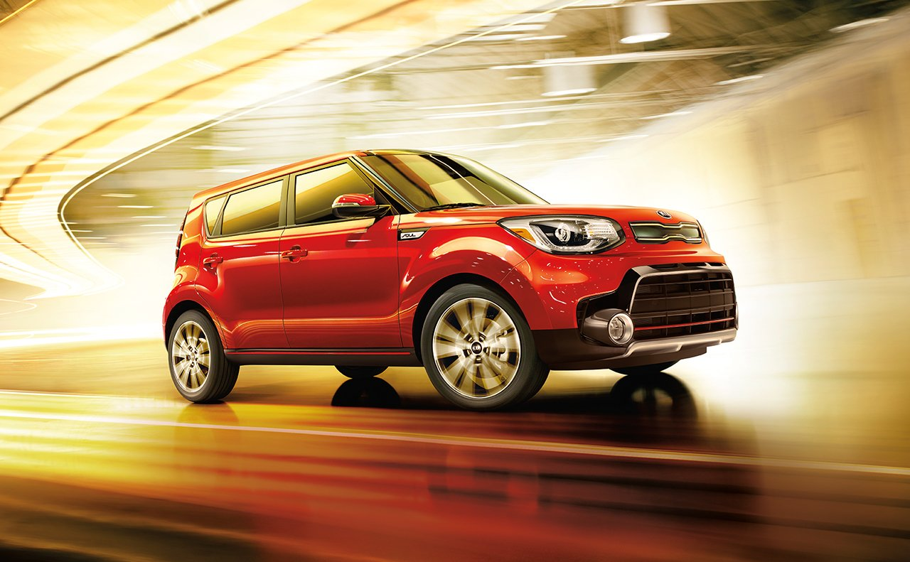 2017 Kia Soul Side Red Exterior